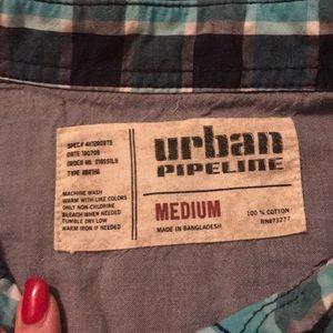 urban pipeline Shirts - EUC men's plaid casual shirt